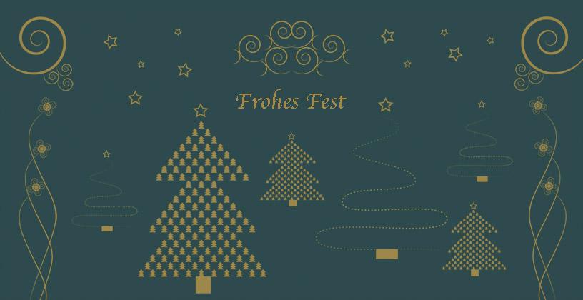"""Weihnachtskarte """"Baum mit ornamente"""""""